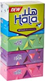 Hala Facial Tissue - Pack of 5 boxes, 200 sheets x 2 Ply, Assorted Color