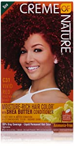 Creme of Nature Moisture Rich Hair Color Kit, Vivid Red