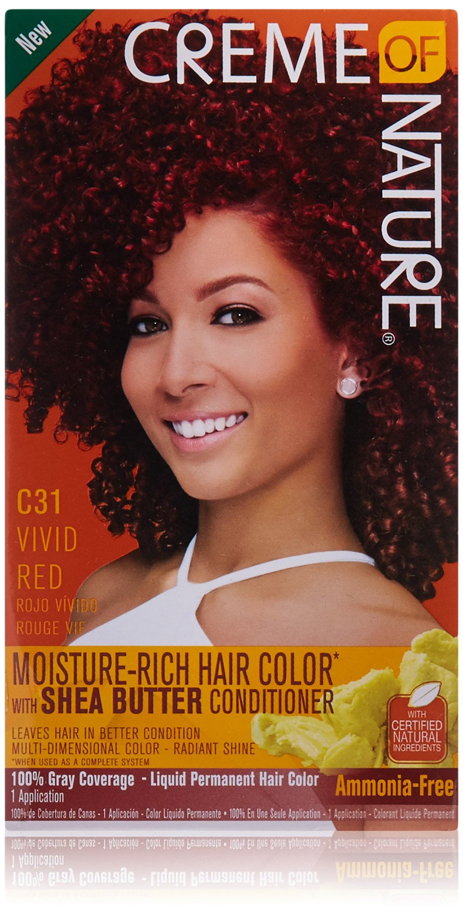 Amazon Creme Of Nature Moisture Rich Hair Color Kit Vivid Red