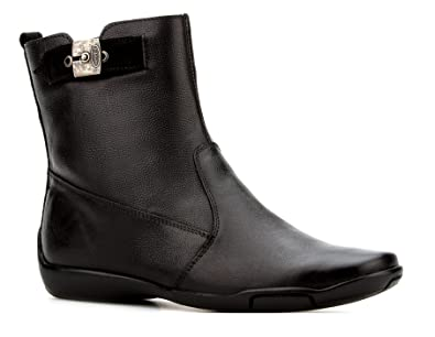 Dr. Scholl's Original Collection Women's Shoes Comfort Gel Cushion Genuine Leather Black Flat Ankle Boot
