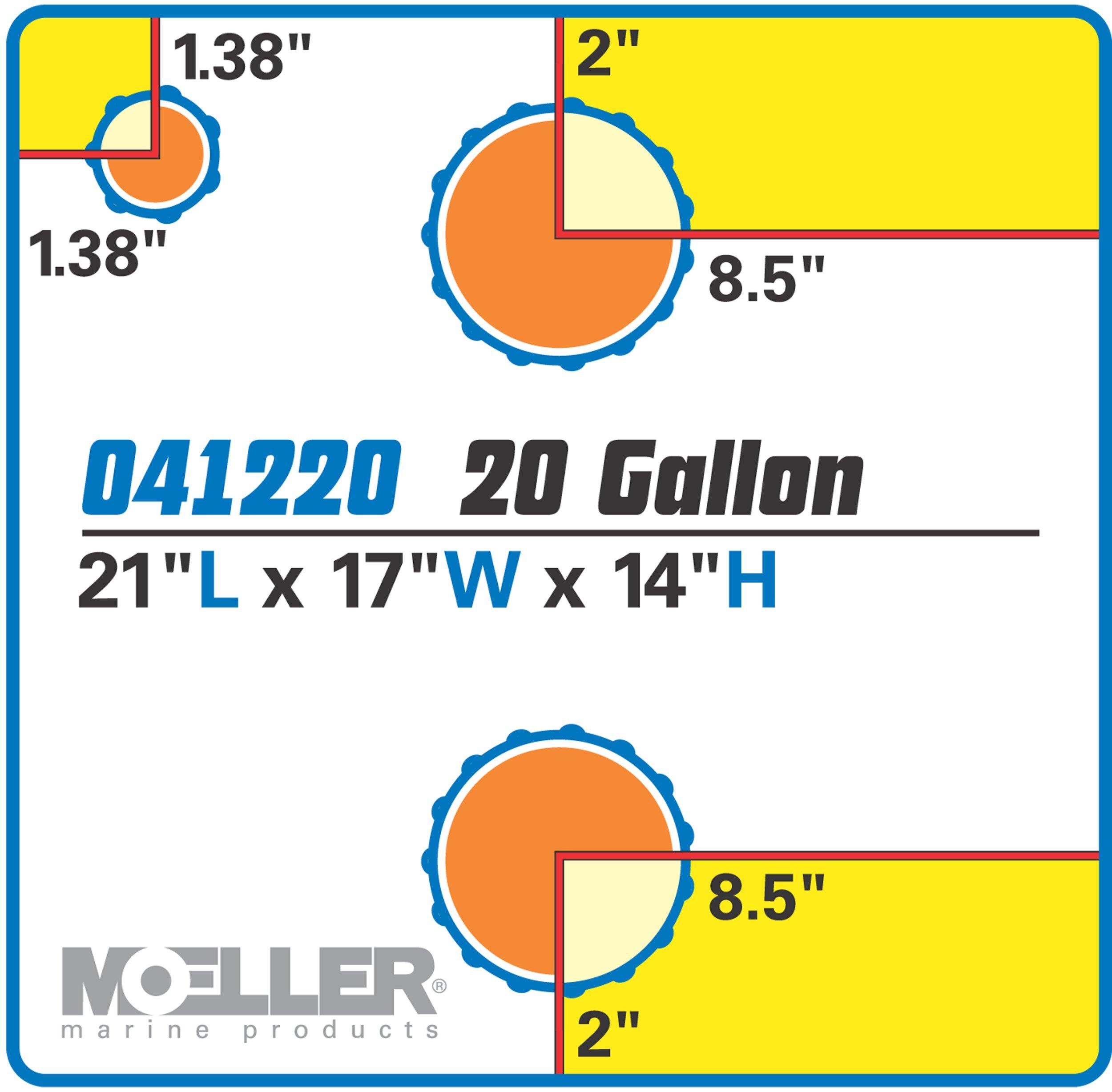 Moeller Marine Waste Tank (19-Gallon) by Moeller Marine