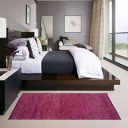 Glamkaart Reversible Soft Feather Pink Floor Rug 2x5 Feet