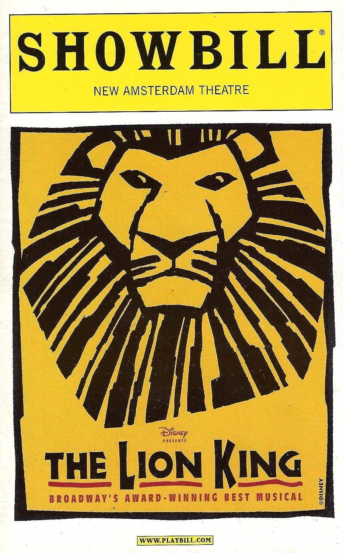 Elton John'THE LION KING' Tim Rice/Julie Taymor/Christopher Jackson (Broadway Debut) 2001 Playbill