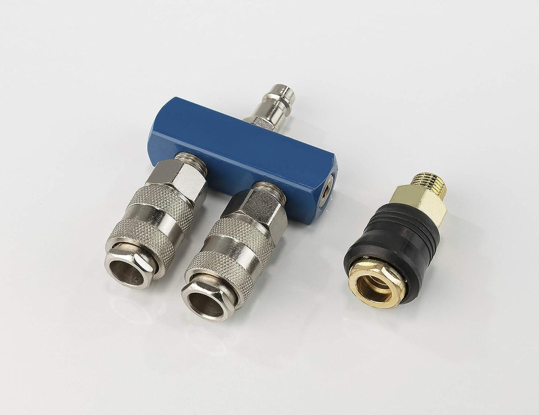 1pezzi 2506775-Scheppach pressione aria Attacchi rapidi di set 4Vie blu//arg