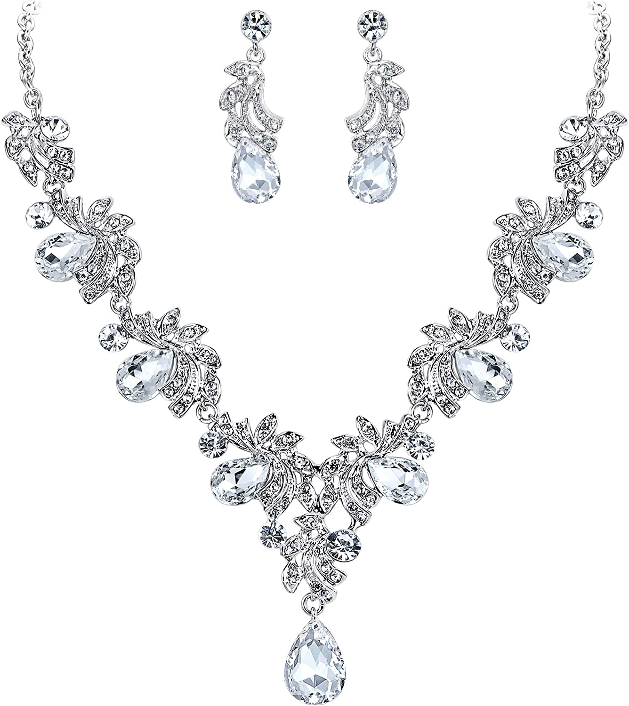 pendant back peach jewelry bijoux de dos Bleu bridal necklace back mariage peach bride jewelry teardrop necklace back necklace back