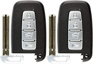 KeylessOption Keyless Entry Remote Smart Car Key Fob for Hyundai Kia 95440-3X200, SY5HMFNA04 (Pack of 2)