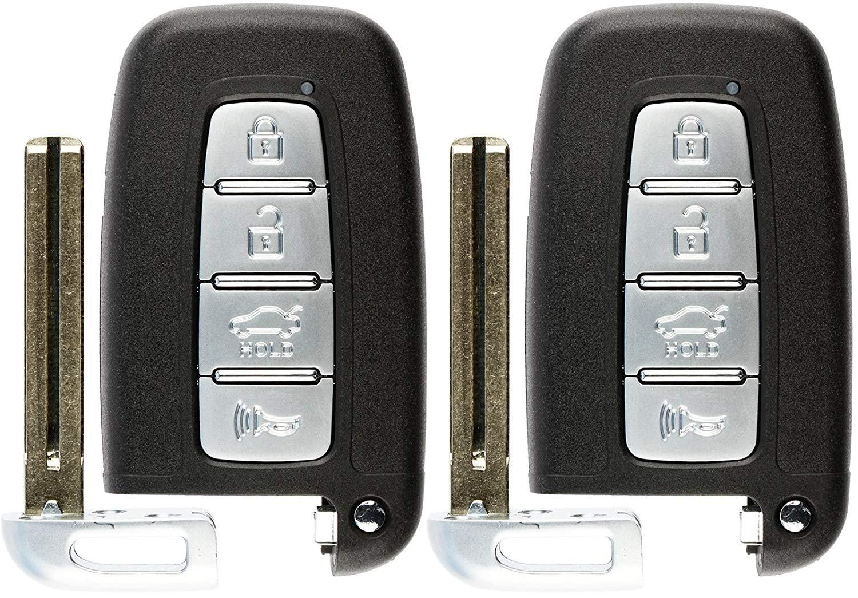 KeylessOption Keyless Entry Remote Car Uncut Flip Key Fob Replacement for KBRASTU15 Pack of 2