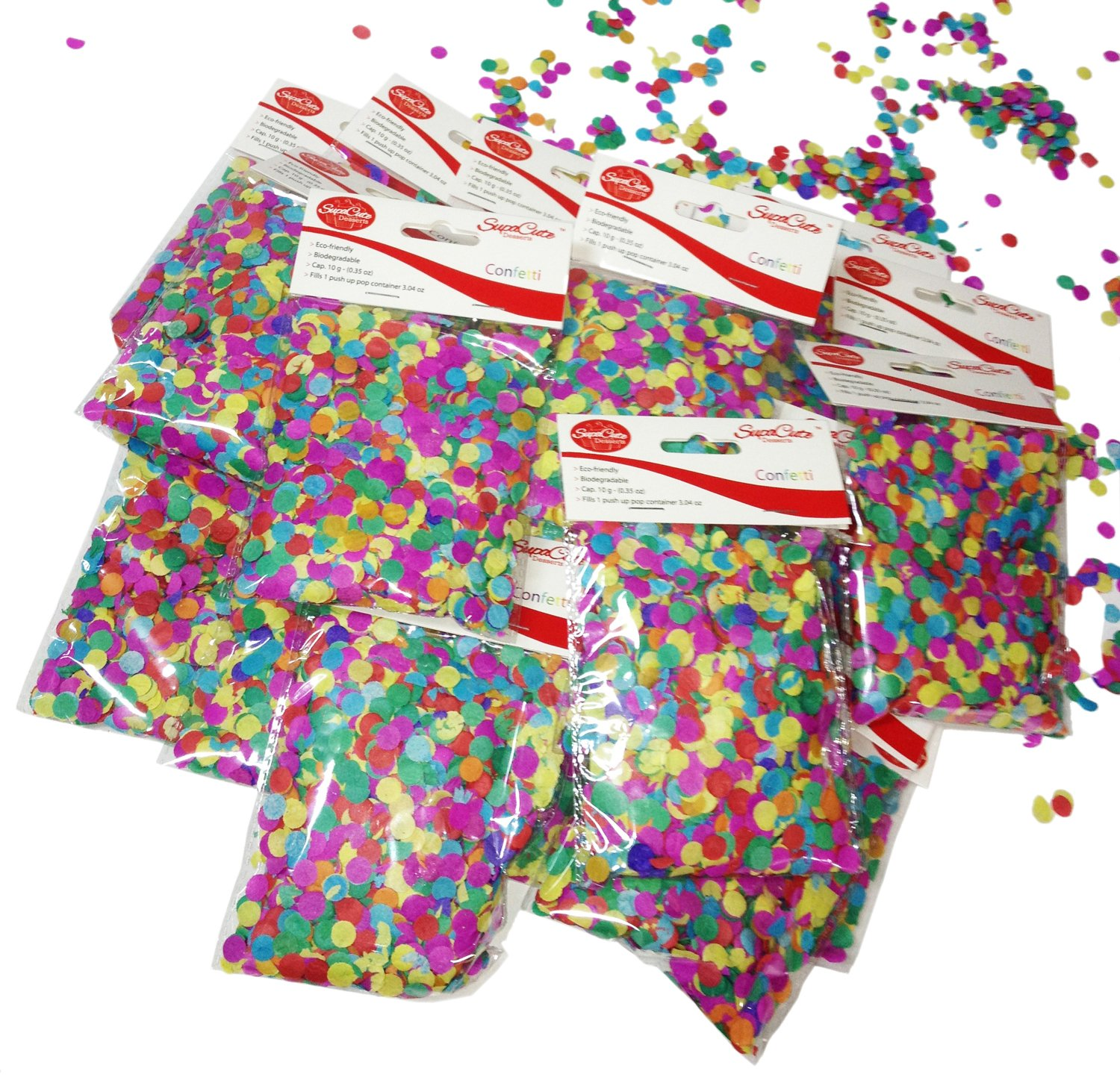 SupaCute Birthday Party Paper Confetti - 16 Bags by SupaCute Desserts