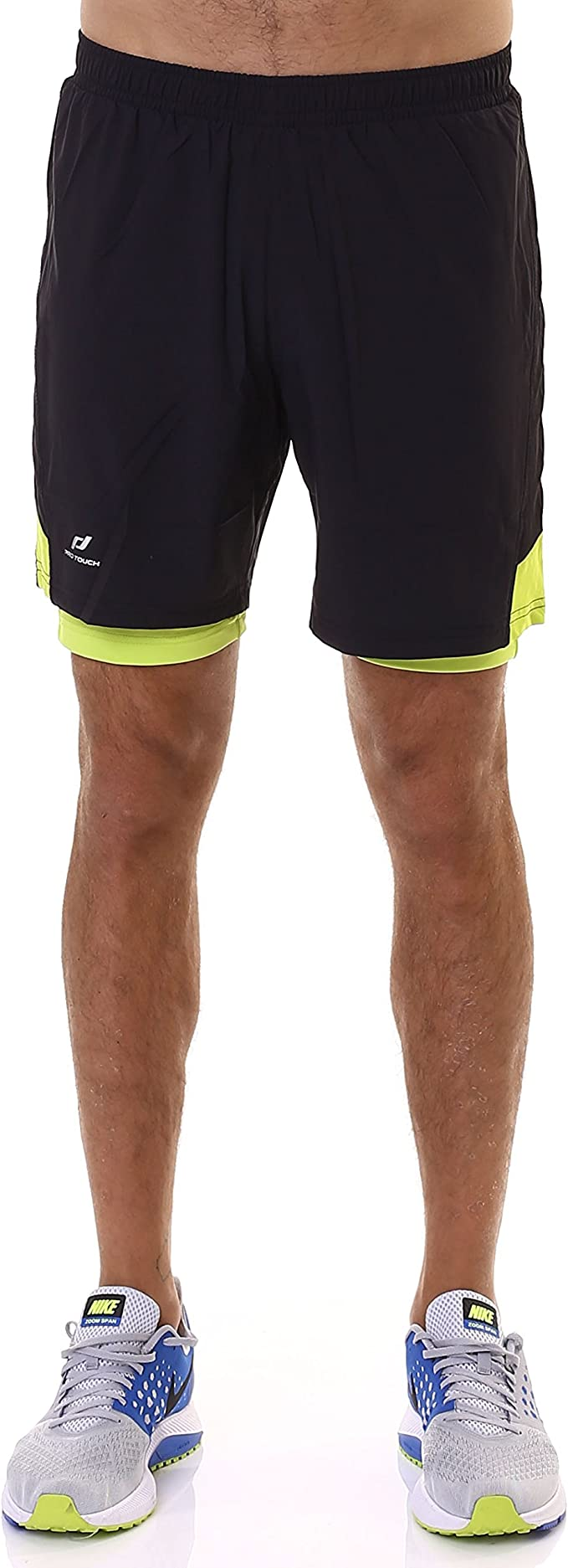 PRO TOUCH Mens Mycus UX Black Running Shorts