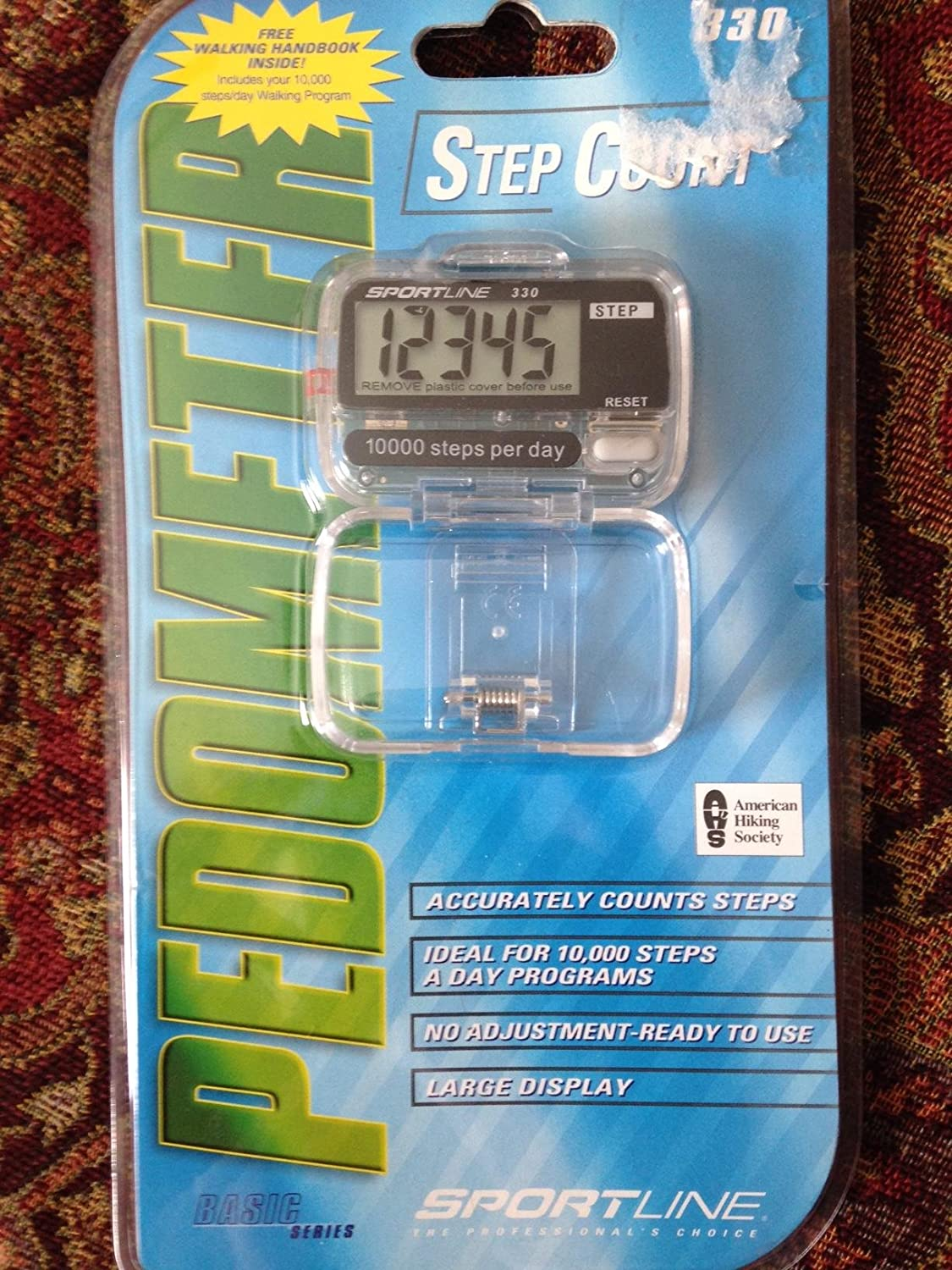 factory price well known new release Sportline Walking Advantage 330 Step Count Pedometer With Large Electronic  Display and Waist Clip