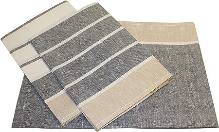 Triolino rayas Jacquard 3 pack té paño de cocina ropa de tela de ...
