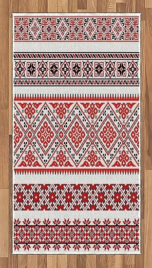 Amazon com: Ambesonne Art Area Rug, Traditional Ukrainian