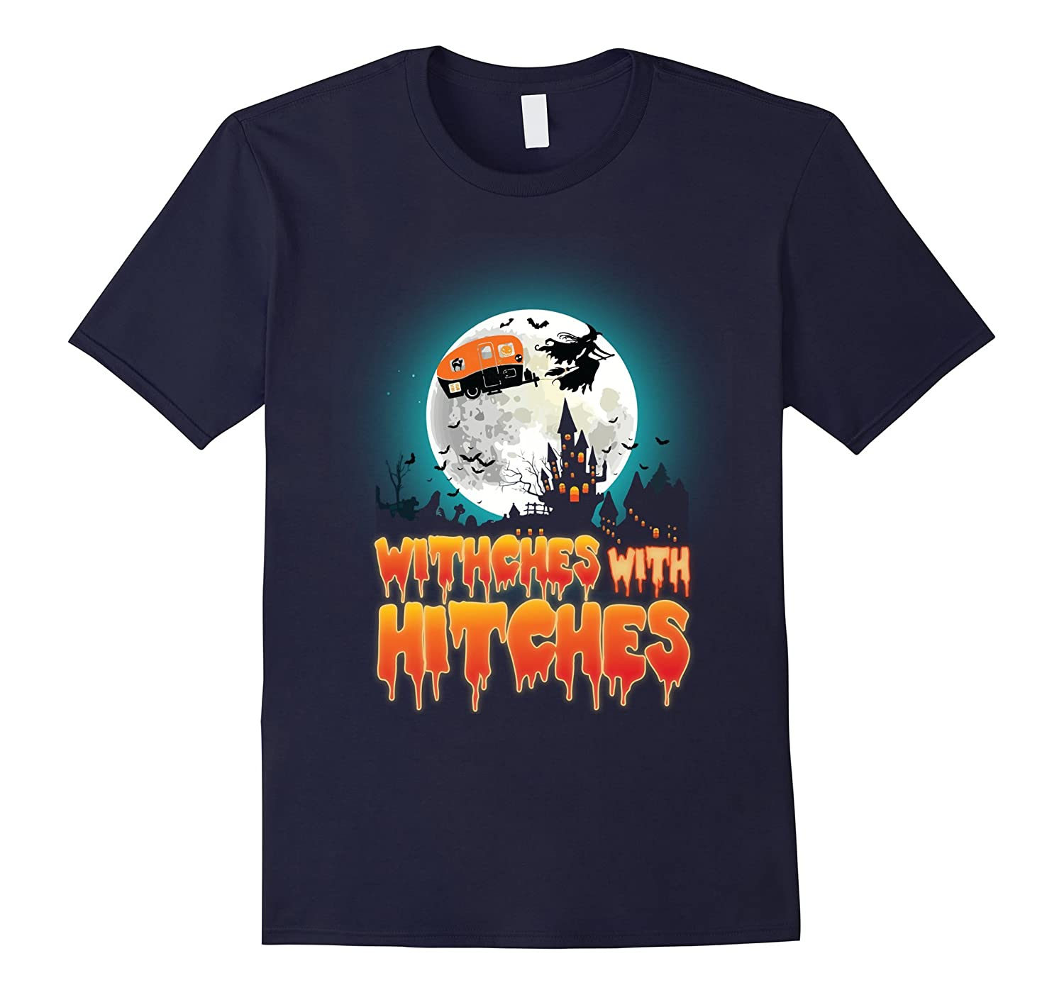 Witches With Hitches Shirt Halloween Costume For Camper-Art