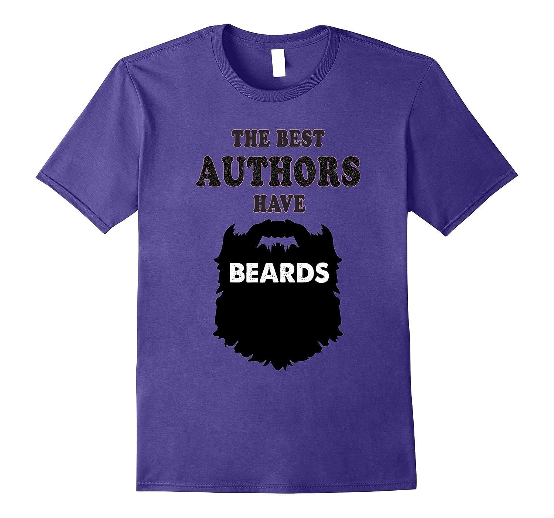bearded Author Tshirt, writer gift for men costume tees-Art
