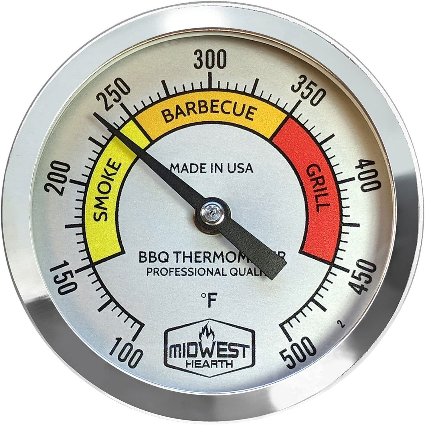 Grill Thermometers Patio, Lawn & Garden 4 Stem Length, Black