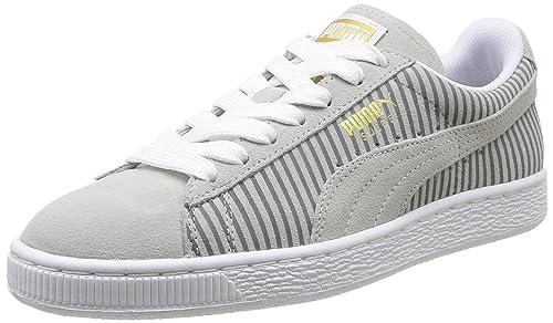b7df692cc4e Puma Classic B S Wns - Zapatillas de deporte de cuero para mujer gris Gris  (Grey