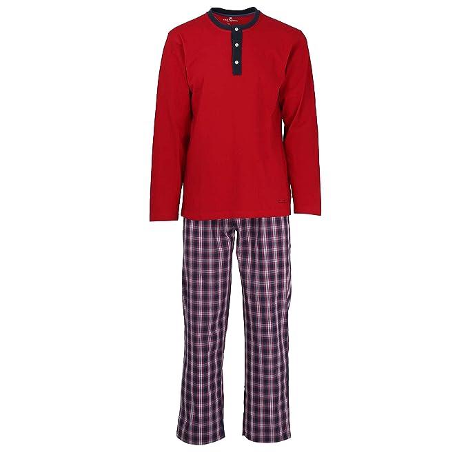 TOM TAILOR - Pijama - para hombre rojo Rot/Dunkelblau