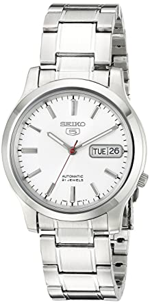 609944c5aeed Image Unavailable. Seiko Men s SNK789 Seiko 5 Automatic Stainless Steel  Watch with White Dial