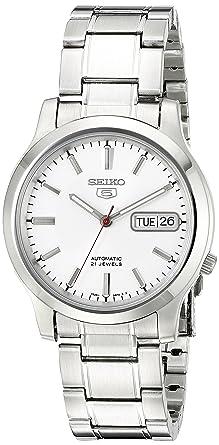 4814ad559 Seiko Men's SNK789 Seiko 5 Automatic Stainless Steel Watch with White Dial