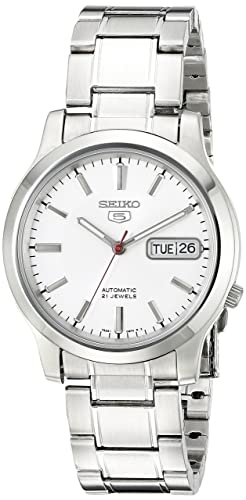 Seiko Men S Snk789 Seiko 5 Automatic Stainless Steel Watch With White Dial