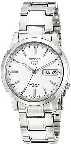 b2a0cc6c000 Seiko Men s SNK789 Seiko 5 Automatic White Dial Stainless-Steel Bracelet  Watch