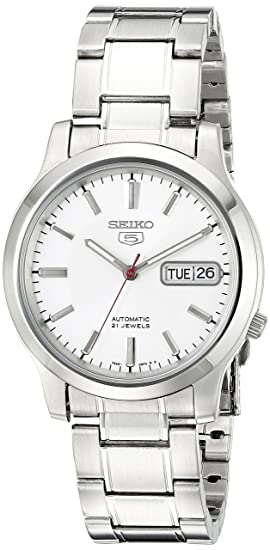Seiko5 Reloj Analógico para Mujer de Cuarzo con Correa en Cuero SNK789: Seiko: Amazon.es: Relojes