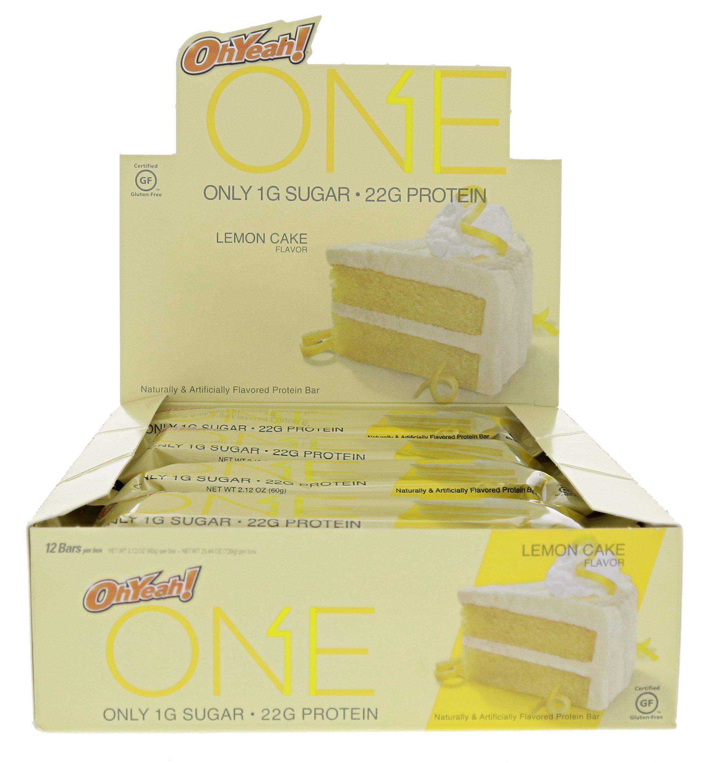 ISS Oh Yeah! One Bar Lemon Cake 24 - 2.12 OZ Bars