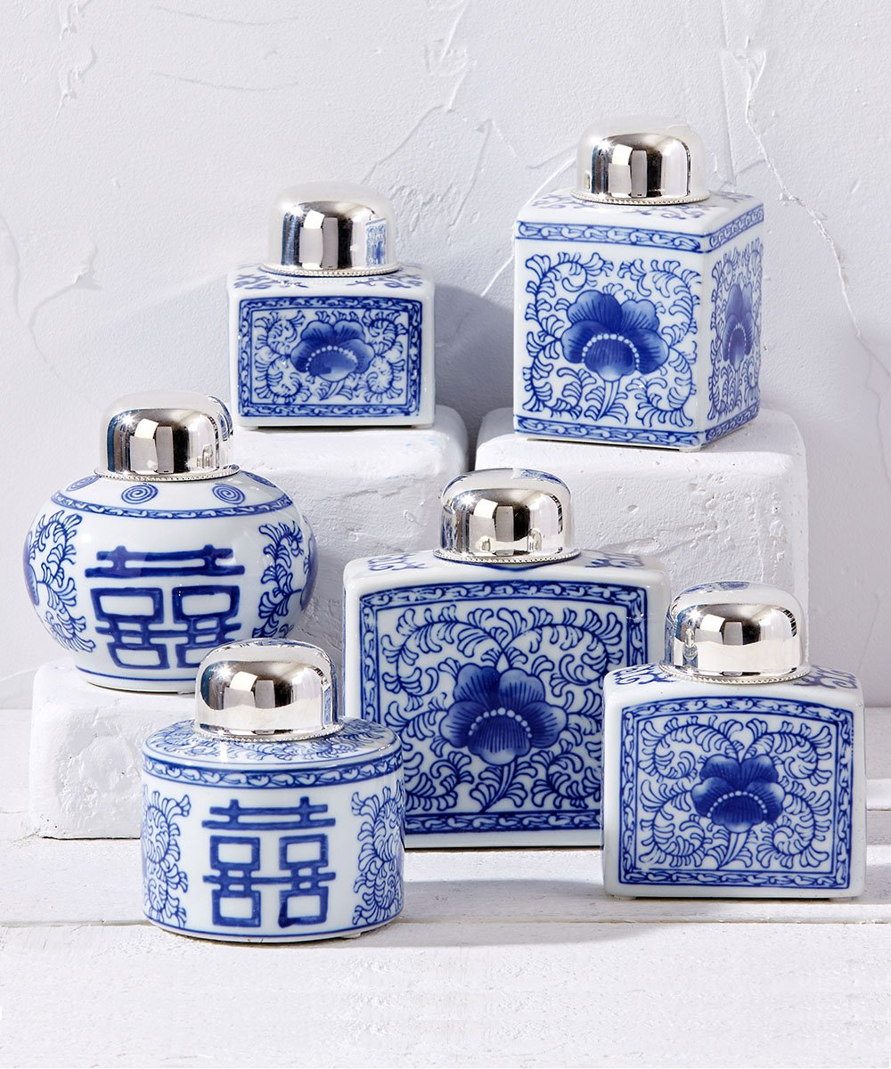 Canton Collection Set of 6 Tea Jars