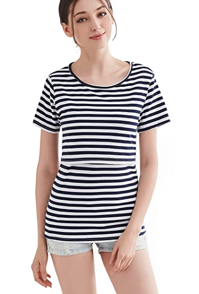c3febf045ac CAKYE Maternity Nursing Shirts Breastfeeding Tank Tops Summer Cothes ...