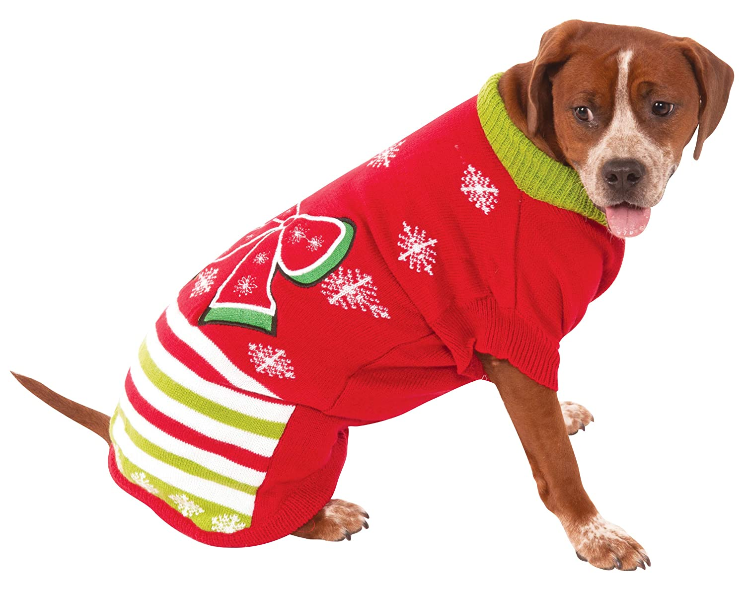 Rubie's Christmas Ugly Sweater with Bow Pet Costume, XXX-Large Rubies Decor Pets 580567