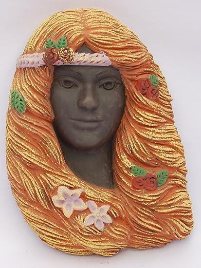 Máscara de ARIÁN mediana en color de cerámica artesanal