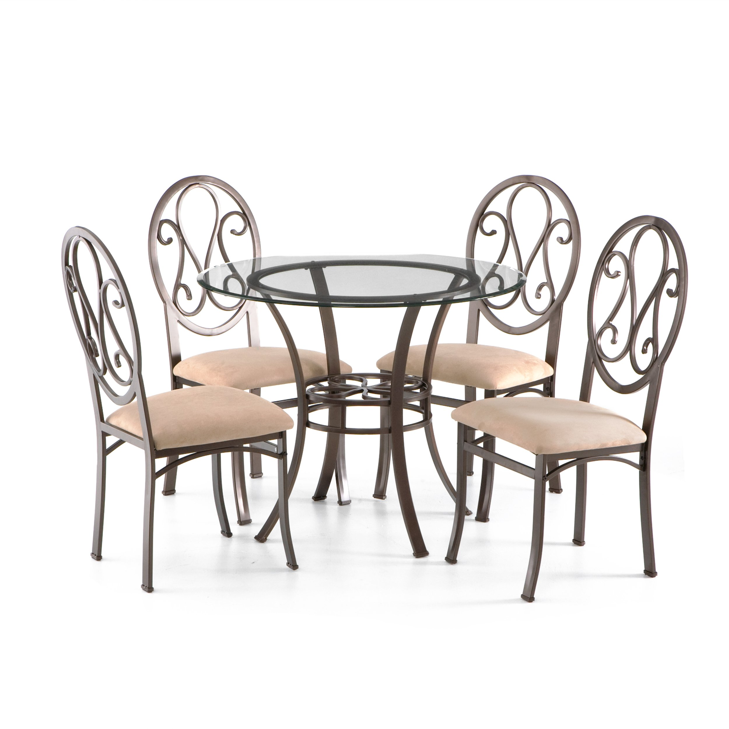 Southern Enterprises Lucianna Glass Top Dining Table, Dark Brown Finish by Southern Enterprises (Image #5)