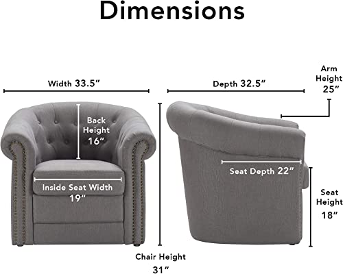 Reviewed: Finch Westport Tufted Club Chair