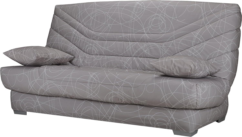 Banquette Samua Bultex sofá Cama, Paneles de partículas/Acero/Madera, Topo, 140 x 190 cm