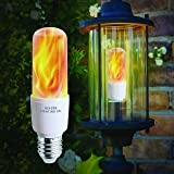 Flickering LED Flame Light Bulbs - E26 LED Bulb with Gravity Sensor Flame Night Bulb for Home Hotel Bar Party Decoration