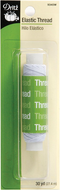 Dritz 9345W Elastic Sewing Thread, White, 30-Yard Prym Consumer USA 103412