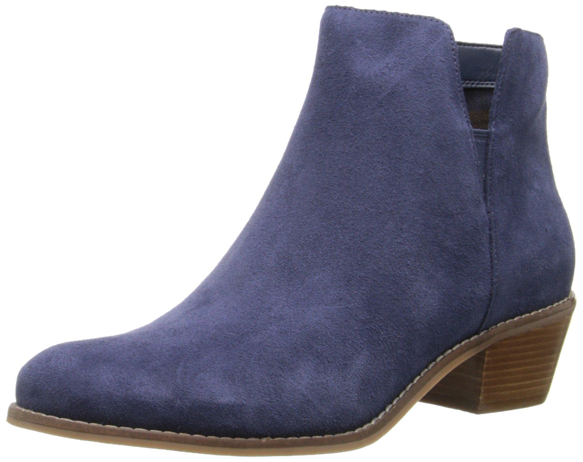 Cole Haan Women's Abbot Boot, Blazer Blue Suede, 9 B US