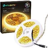 HitLights Warm White LED Light Strip, 16.4Ft Premium High Density LED Strip, 600 Bright 2835 LEDs, 3000K, 300 Lumens/Foot, UL