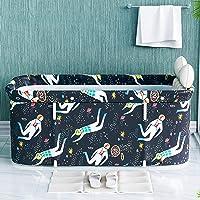 Whiteswan Draagbare badkuip voor volwassenen, draagbaar, niet-opblaasbare badkuip, gemaakt van PVC/SPA, vrijstaand, dik…
