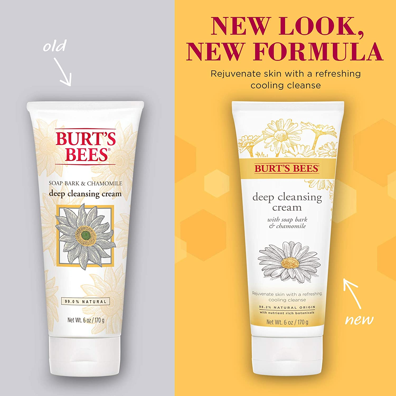 Burt's Bees Soap Bark and Chamomile Deep Cleansing Cream, 6 ounce pack of 2: Beauty