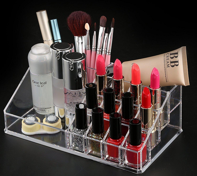 Buy Swarg Jannat Multi Grid Acrylic Makeup Organiser (Transparent) Online At