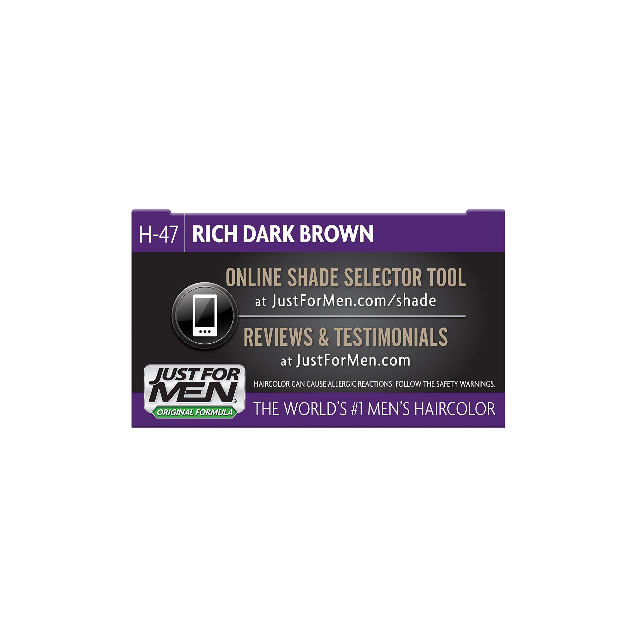 Just For Men Original Formula Men's Hair Color, Rich Dark Brown, (Pack of 12) by Just for Men (Image #7)