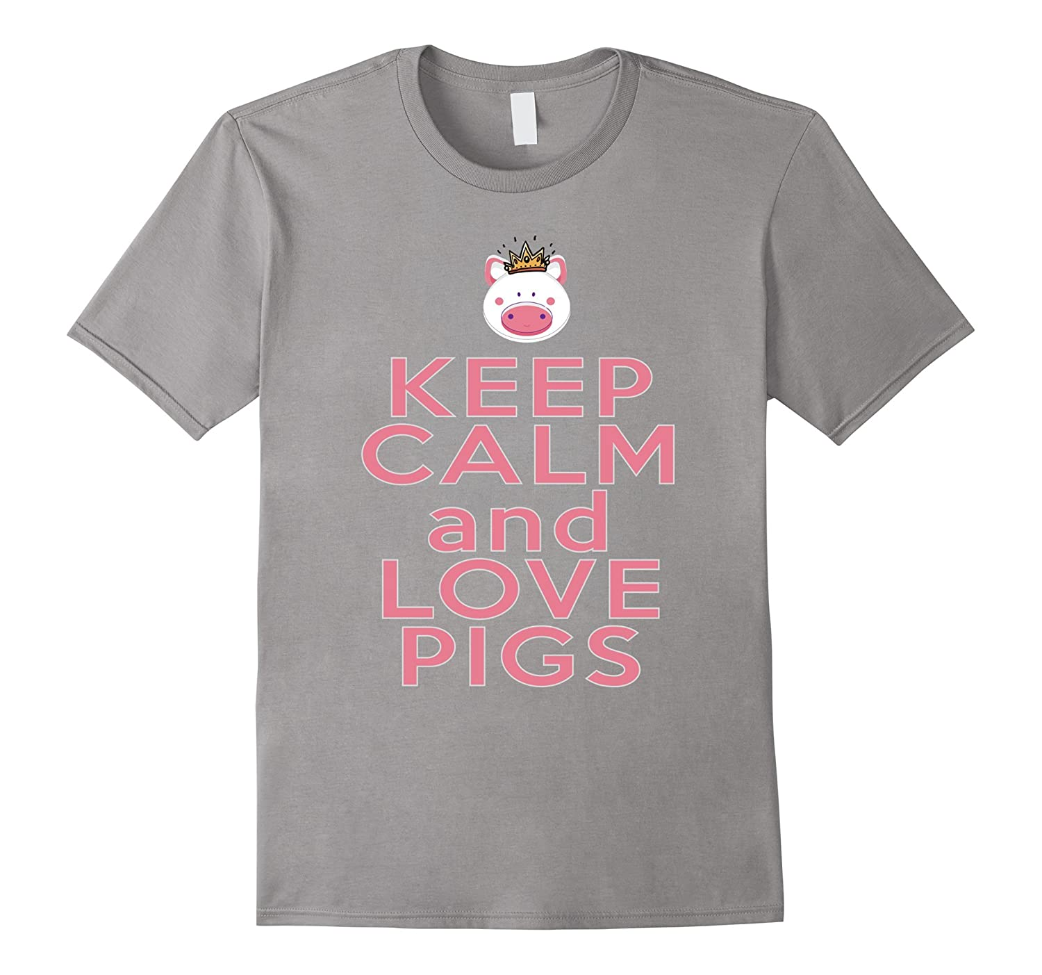 Keep it Calm and Love Pigs-Pig Gifts For Pig Lovers T-Shirts