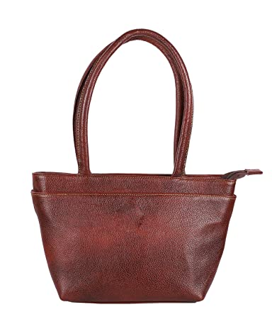 df8c71e107da Buy Sumannya Genuine Leather Brown Ladies Handbag Online at Low Prices in  India - Amazon.in
