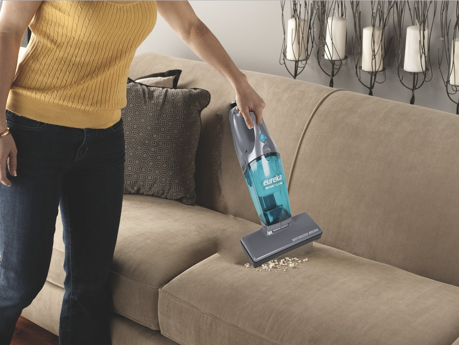 Eureka 2-in-1 Stick & Hand Vacuum, Lightweight Rechargeable Cordless Vacuum Cleaner,Instant Clean 95A by Eureka (Image #5)