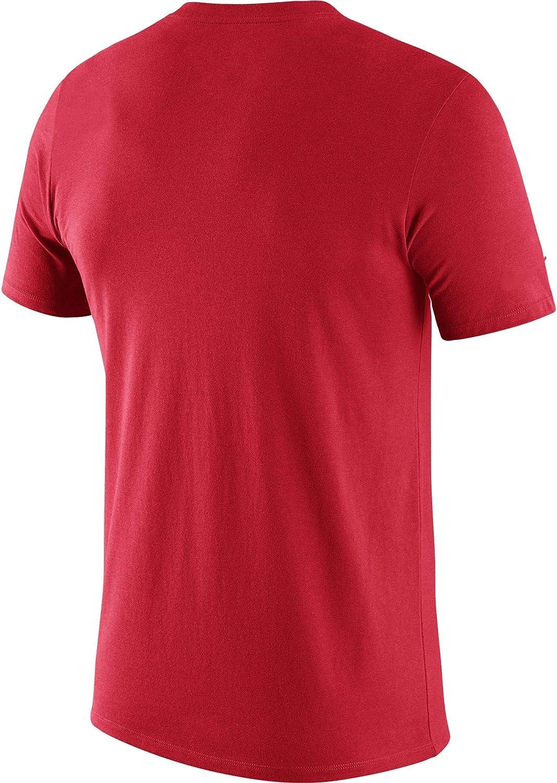 Nike Mens Ohio State Buckeyes Scarlet Legend Football Sideline T-Shirt Red