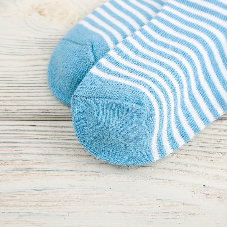 in cotone Set di 5 paia di calzini morbidi per bambini a righe Camilife