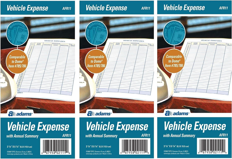 Adams Convenient Vehicle Mileage Journal AFR10W