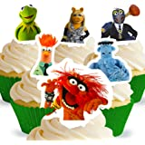 Cakeshop 12 x PRE-CUT Disney The Muppets Stand Up Edible Cake Toppers