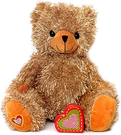 Recordable Teddy Bear Walmart, Amazon Com My Baby S Heartbeat Bear Recordable Stuffed Animals 20 Sec Heart Voice Recorder For Ultrasounds And Sweet Messages Playback Perfect Gender Reveal For Moms To Be Lil Tan Bear Toys Games